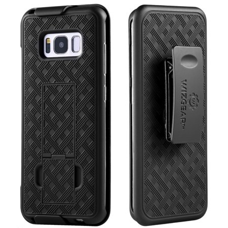 WizGear Shell Holster Combo Swivel Slim Belt Case for Samsung Galaxy S8 Plus With Kick-Stand and Belt Clip -