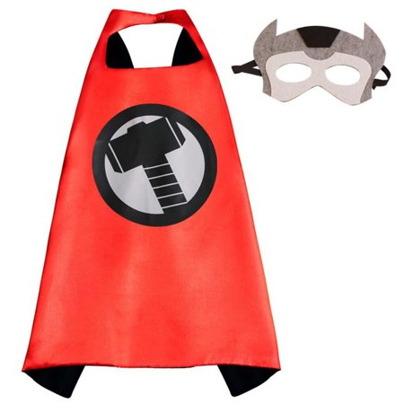 Marvel Comics Costume - Thor Logo Cape and Mask with Gift Box by Superheroes (Female Comic Book Costume Ideas)