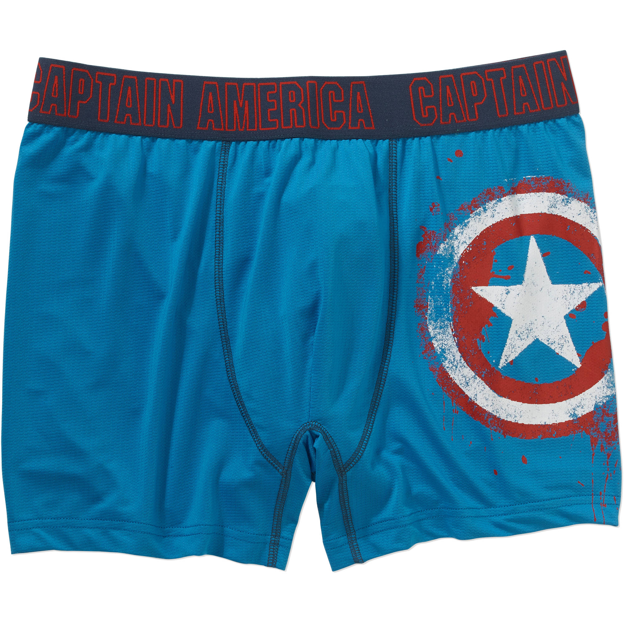 Captain America Shield Big Men's Boxer Brief, 2XL