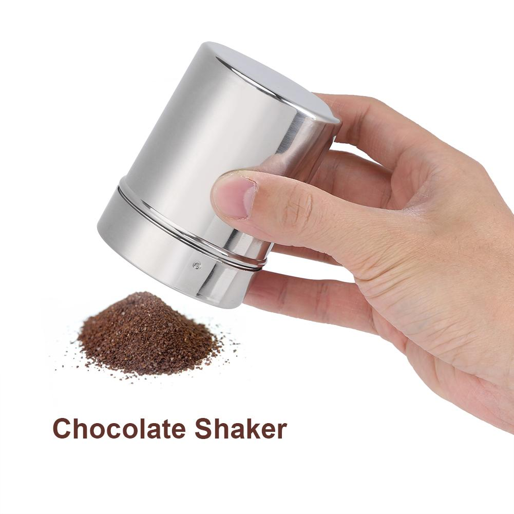 Yosoo Stainless Steel Chocolate Shaker Cocoa Flour Coffee Sifter Art Stencil Molds Cocoa Flour Sifter Coffee Stencil