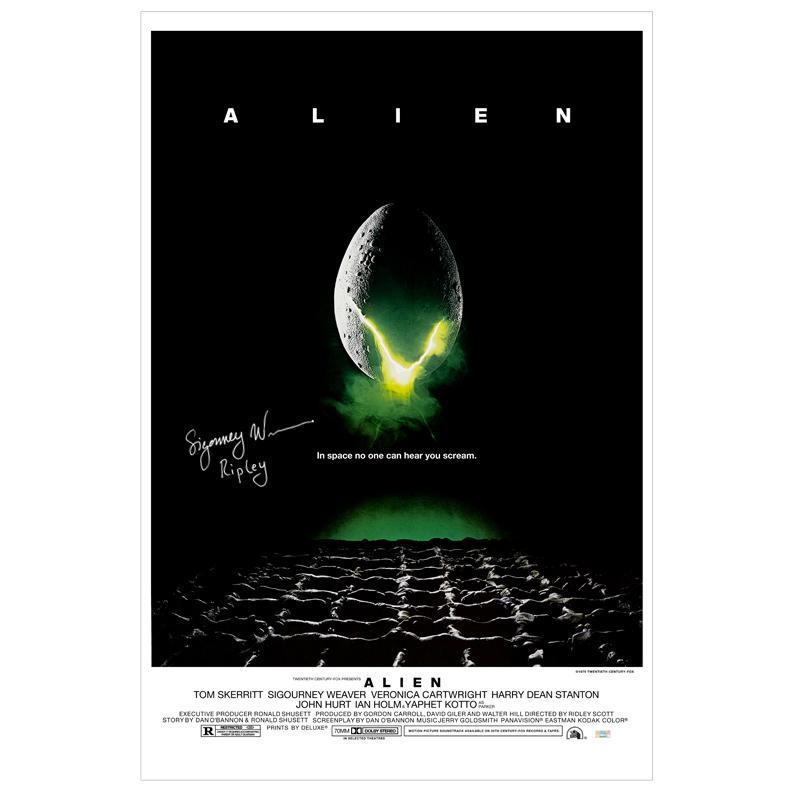 Sigourney Weaver Autographed 27?40 Alien Poster