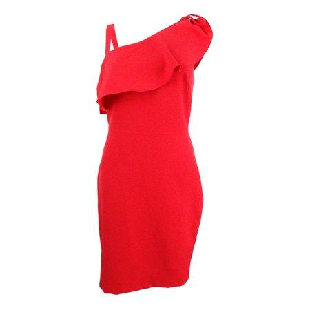 Guess Women's Asymmetrical Ruffle Bodycon Dress
