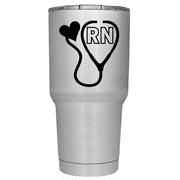 Nurses Stethoscope 30 oz Stainless Steel Tumbler with Lid -  Nurse Gift