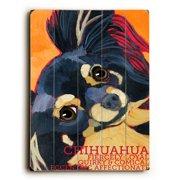 Artehouse LLC Long Hair Chihuahua by Ursula Dodge Graphic Art Plaque