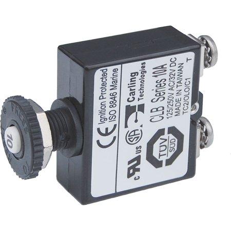 Blue Sea Push Button Reset Only Screw Terminal Circuit Breaker - 10 Amps - image 1 de 1
