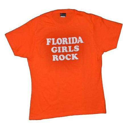Florida T-shirt By Champion - Florida Girls Rock - Orange ()