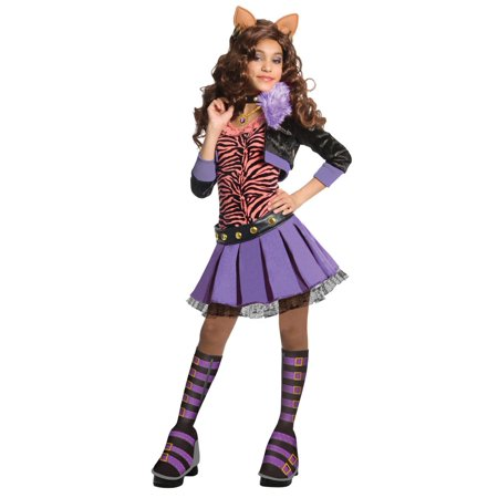 Monster High Deluxe Clawdeen Wolf Costume - Small (Medium, One Color) for $<!---->
