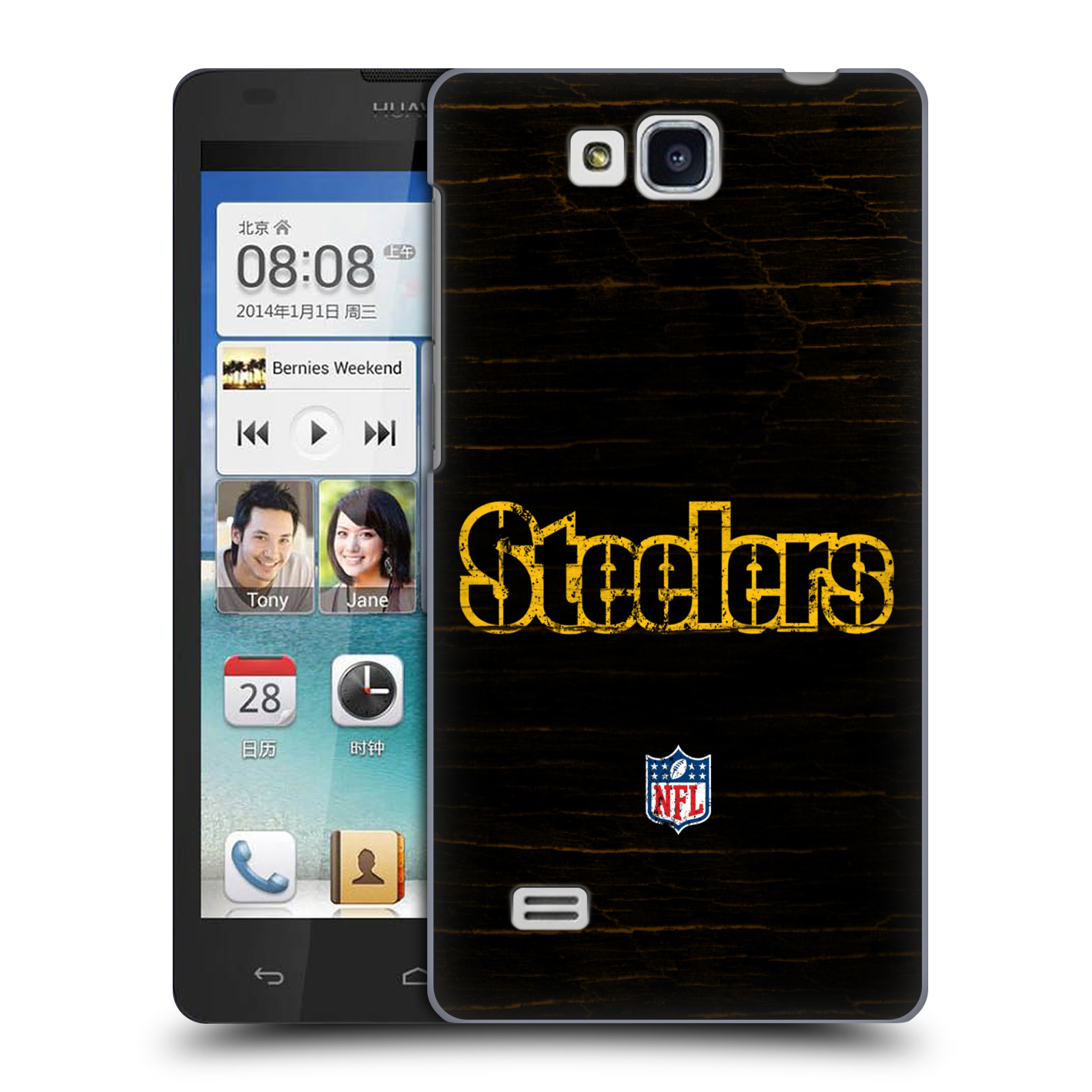 OFFICIAL NFL PITTSBURGH STEELERS LOGO HARD BACK CASE FOR HUAWEI PHONES 2
