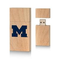 Michigan Wolverines Insignia 16gb Wood Block USB Drive