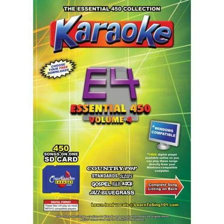 Chartbuster Essential 450 Vol  E4-450 KARAOKE MP3G SD Card CDG MUSIC 4  PLAYER