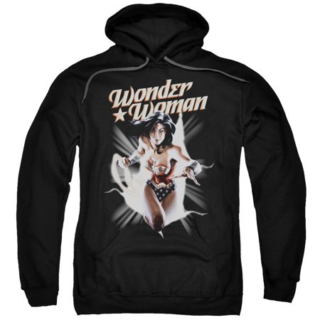 Justice League Wonder Woman Break Out Mens Pullover Hoodie