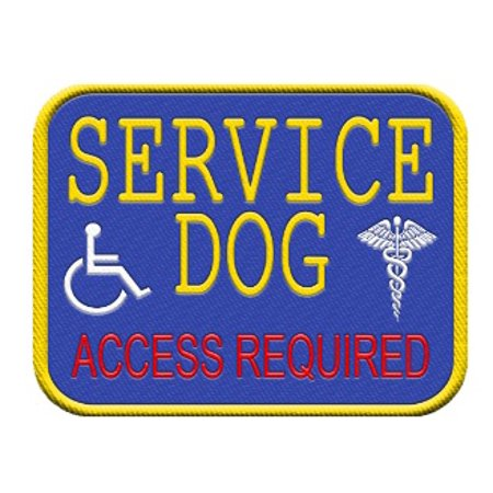 Service Dog Access Required Vest Patch