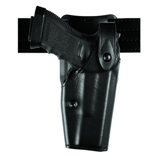 Safariland 6285-83-91 Low Hooded Duty Holster HiGloss Kydex RH for Glock 17 by SAFARILAND