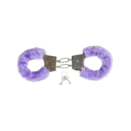 Soft Purple Fuzzy Furry Handcuffs Hand Cuffs