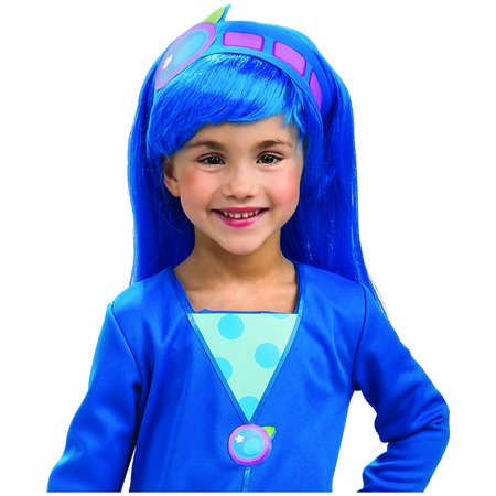 Strawberry Shortcake Blueberry Muffin Wig Adult Halloween - Blue Wig Halloween Ideas