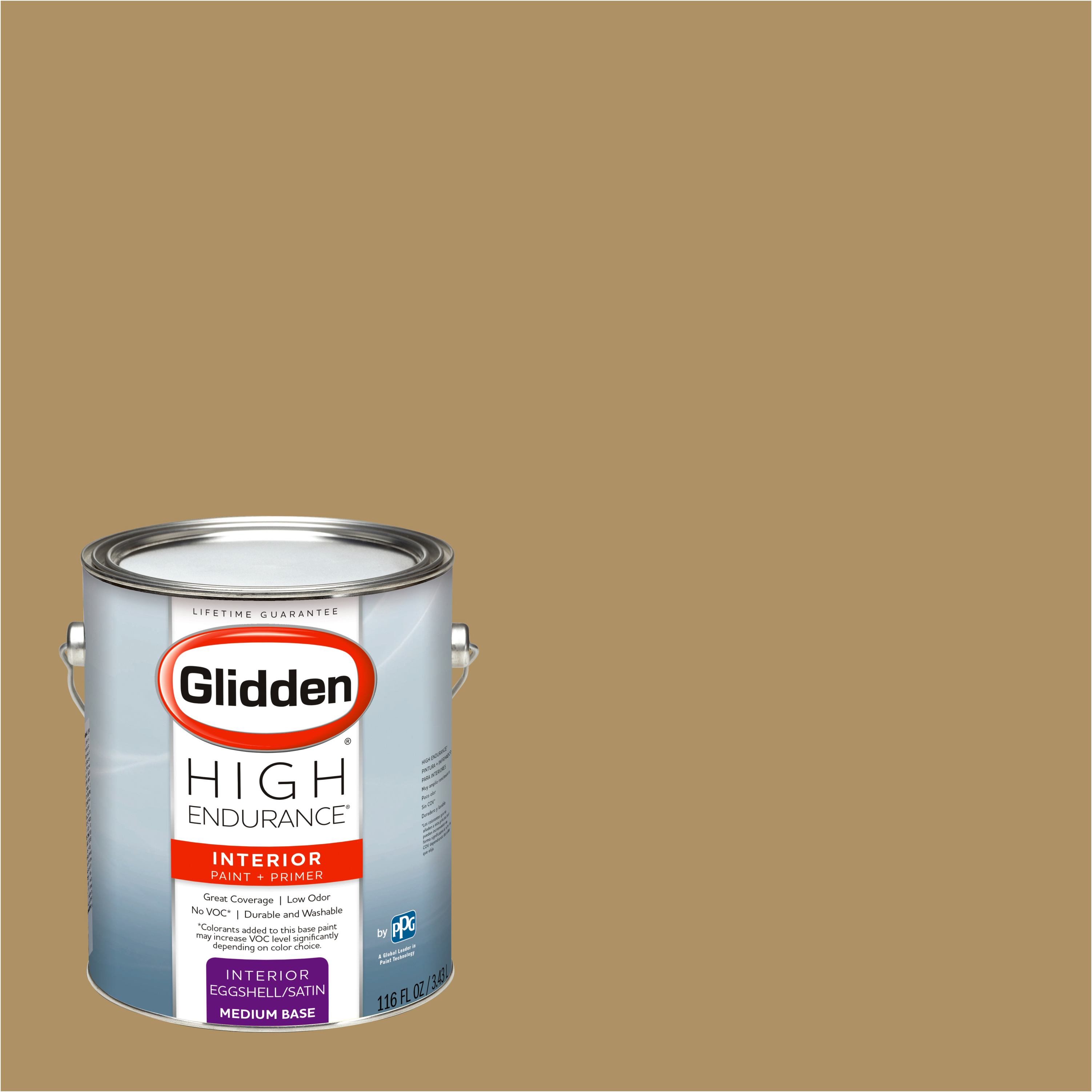 Glidden High Endurance, Interior Paint and Primer, Tradition Gold, #20YY 30/274