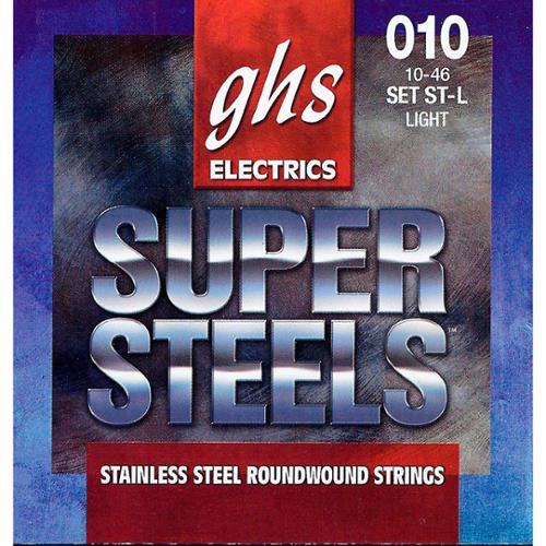 GHS ST-L Super Steels Roundwound Light Electric Guitar Strings by GHS