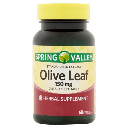 S10 Leaf Springs - Spring Valley Olive Leaf Extract Capsules, 150 mg, 60 Ct
