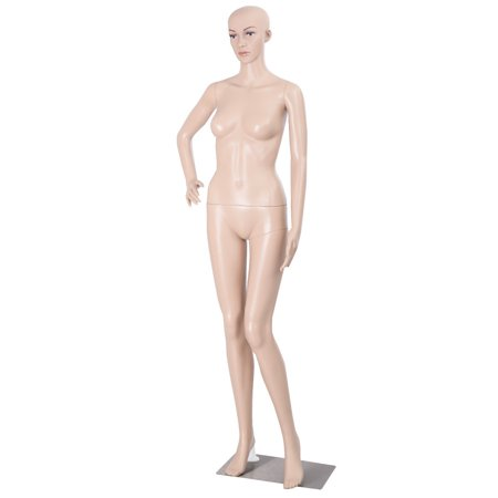 Costway Female Mannequin Plastic Realistic Display Head Turns Dress Form w/ - Cosplay Female Characters