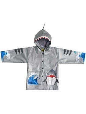 88b0626ad Product Image Kidorable Baby Boys Grey Shark Mouth Pocket Gills Hooded Rain  Coat 12-18M