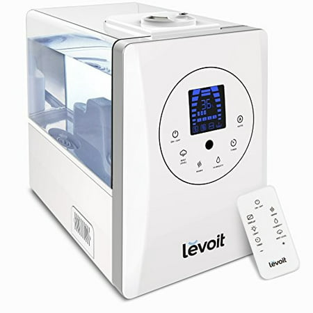 LEVOIT Humidifiers, 6L Warm and Cool Mist Ultrasonic Humidifier for Bedroom or Biy's Room with Remote and Humidity Monitor, Vaporizer for Large Room, Home, Waterless Auto