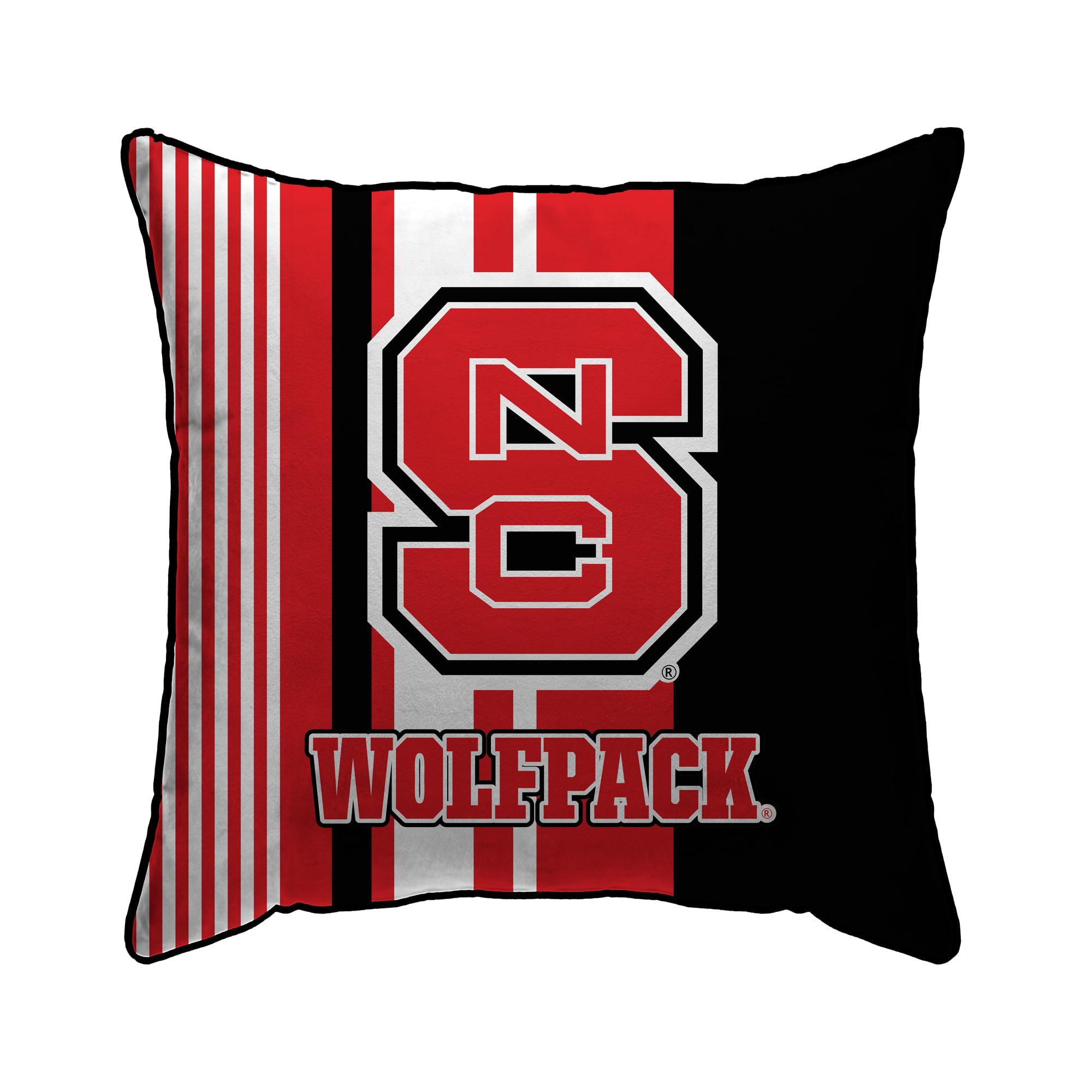 Pegasus Home Fashions Nc State Wolfpack 18 X 18 Large Stripe Decorative Throw Pillow Red Walmart Com Walmart Com