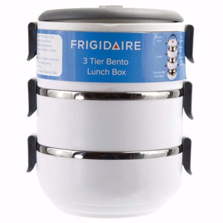 euro ware frigidaire 3 tier bento lunch carrier. Black Bedroom Furniture Sets. Home Design Ideas