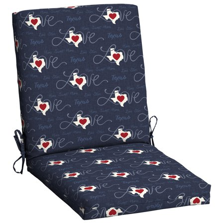 Mainstays Tx Promo Chair Cushion Texas State Walmart Com