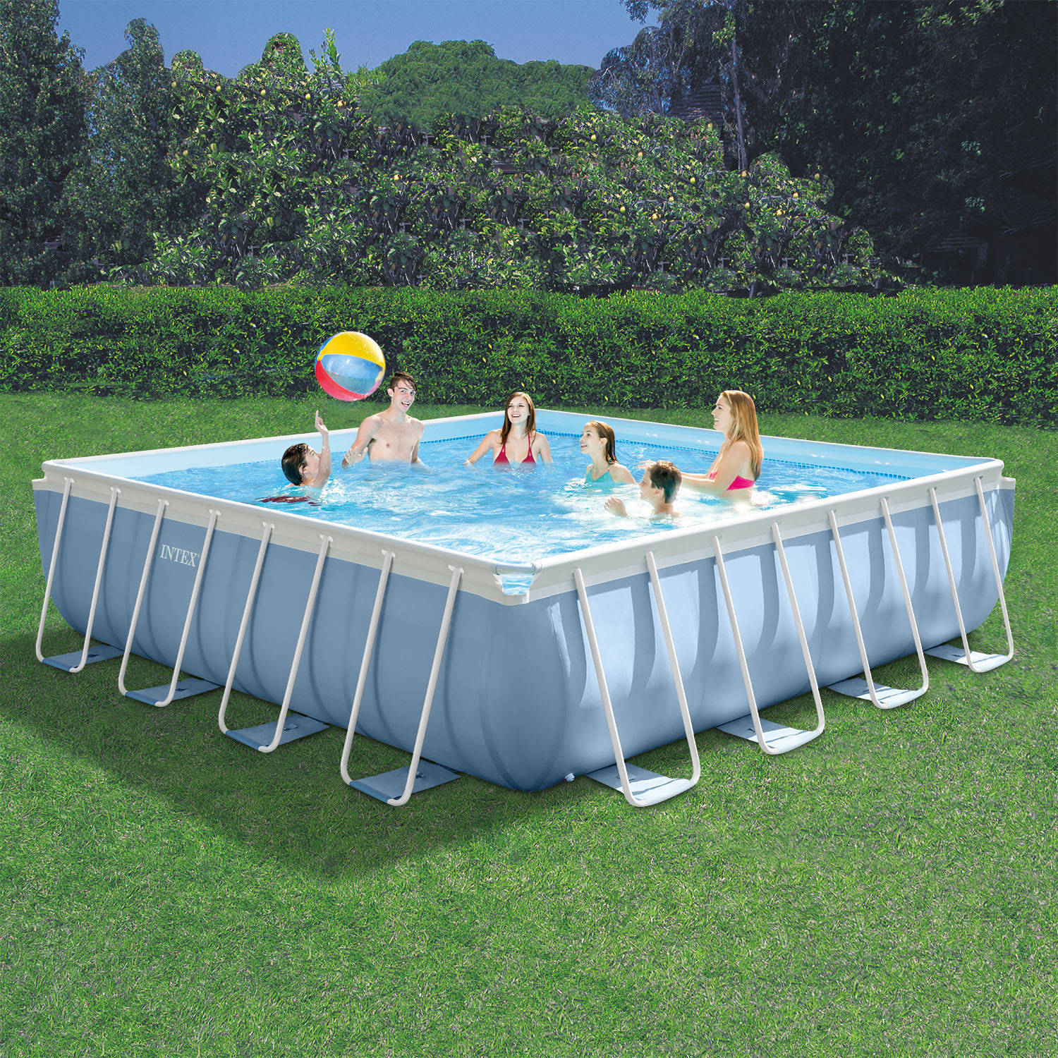 """Intex 16' x 16' x 48"""" Prism Frame MAX Above Ground Swimming Pool with Filter Pump by INTEX TRADING LTD"""