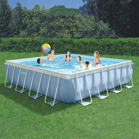 Intex 16 39 X 16 39 X 48 Prism Frame Max Above Ground Swimming Pool With Filter Pump