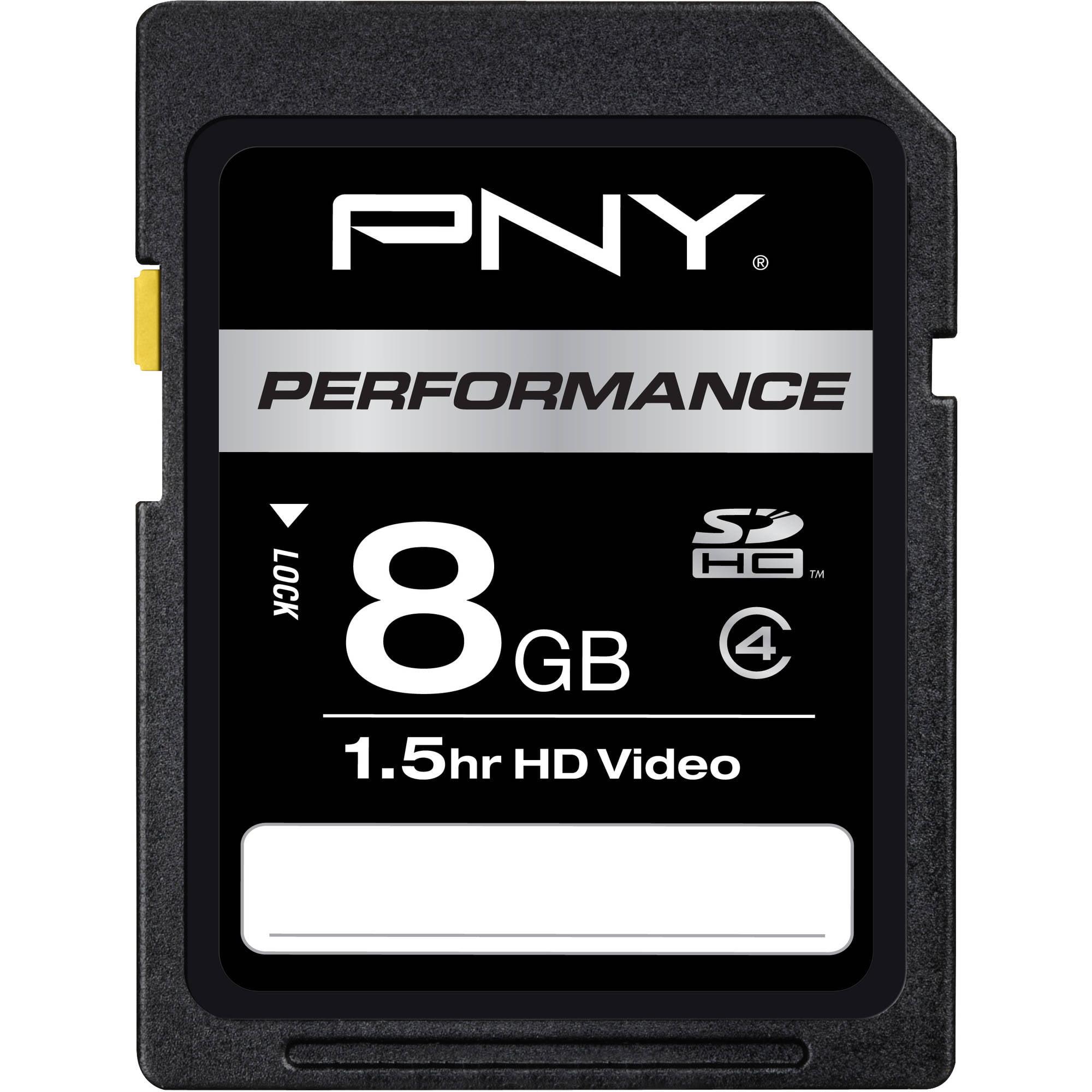 PNY 8GB SDHC Memory Card, Class 4