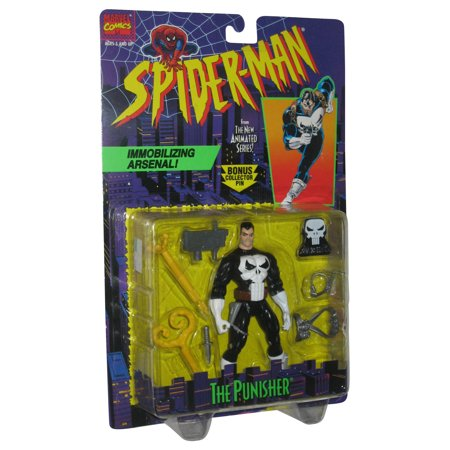 Marvel Spider-Man Animated Series The Punisher Toy Biz Action