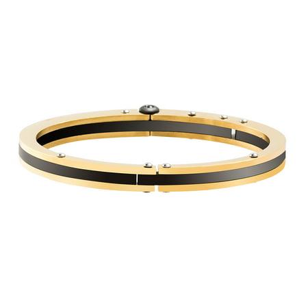 Mens Stainless Steel Two Tone Bracelet (Reinforcements Men's Two Tone 7