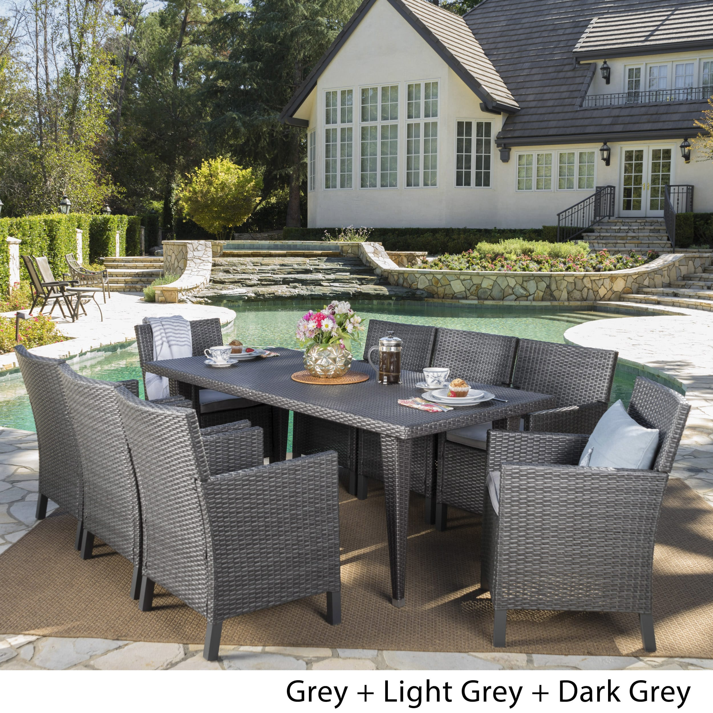 Christopher Knight Home Celeste Outdoor 9 Piece
