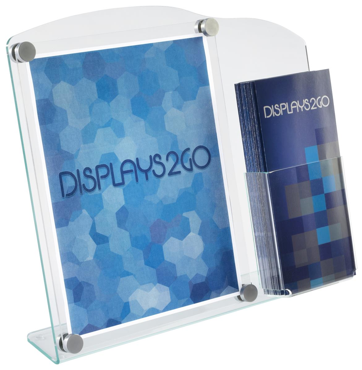Acrylic Sign Frame With Brochure Holder Displays 85x11 Graphics