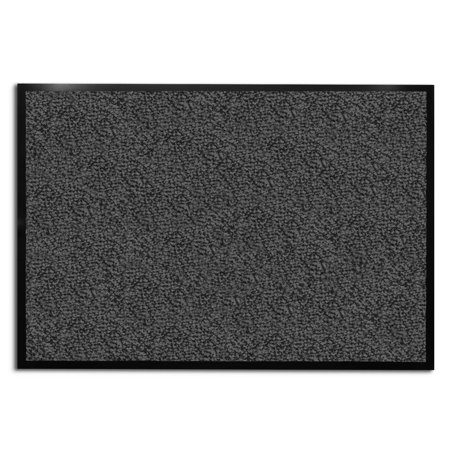 casa pura® Entrance Door Mat | Entryway Floor Mat | Highly absorbent & non-slip Indoor & Outdoor Carpet | Gray - 24'' x 36''
