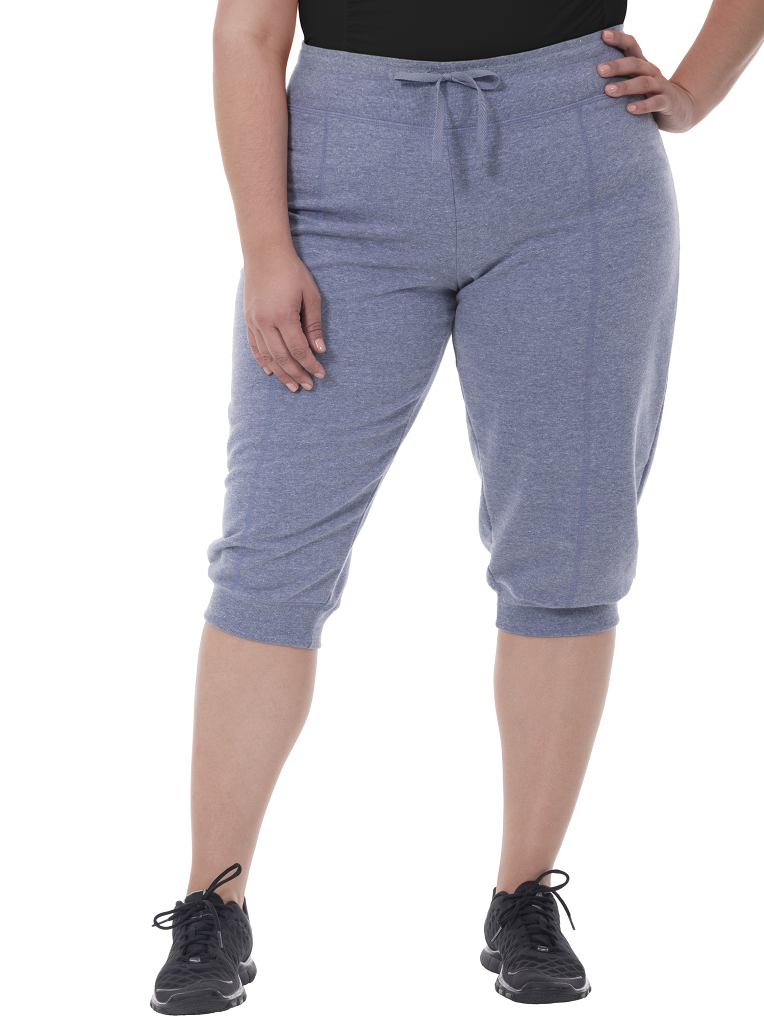 Women's Plus-Size Seamed Capri Jogger