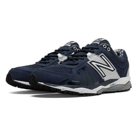 22140a6ce New Balance Men's T1000TN2 Turf Low Baseball Shoe (Navy/Silver, 14 D(M) US)  - Walmart.com