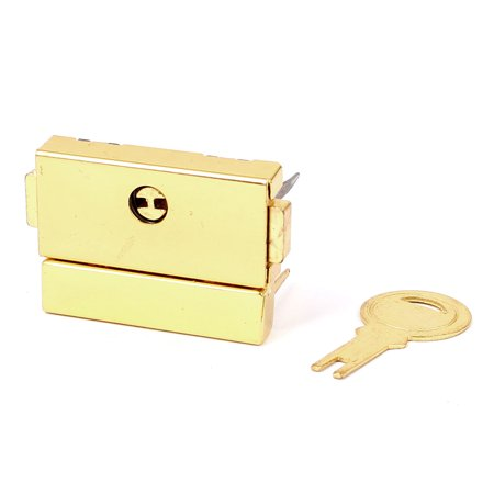 Suitcase Drawer Hasp Boxes Clasp Toggle Lock Latch Gold Tone w Key