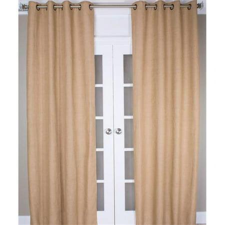 Burlap Curtain Panel - Espresso - 108 in. - image 1 de 1