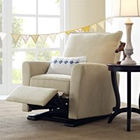 Baby Relax Raleigh Glider Recliner Chair, Living Room Furniture, Gray