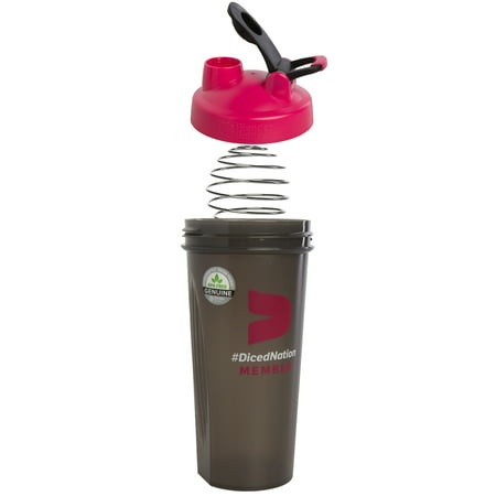 Pink Blender Bottle 28oz Classic Loop Top Shaker Bottle For Protein Shakes Blender Ball Pre-Workout
