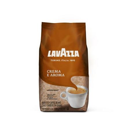Lavazza Crema e Aroma Whole Bean Coffee Blend, Medium Roast, 35.2 Ounce Bag