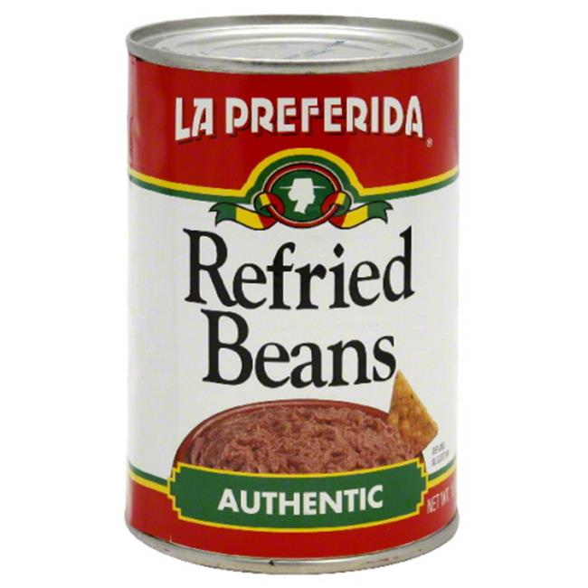 LA PREFERIDA BEAN REFRIED AUTHENTIC-16 OZ -Pack of 24