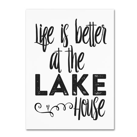 Trademark Fine Art Lifes Better Lake Canvas Art By Marcee Duggar
