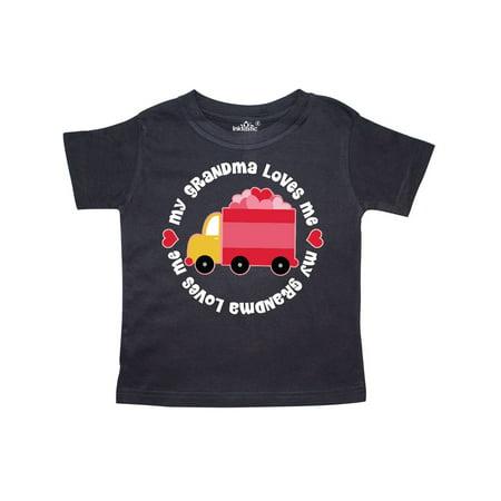 Grandma Loves Me Valentine Truck Kids Toddler T-Shirt