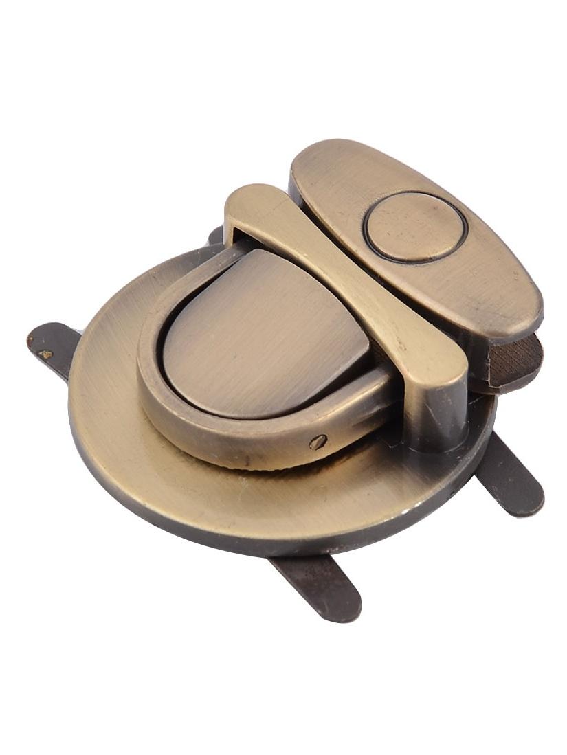 Handbag Backpack Accessory Metal Round Designed Detachable Lock Bronze Tone