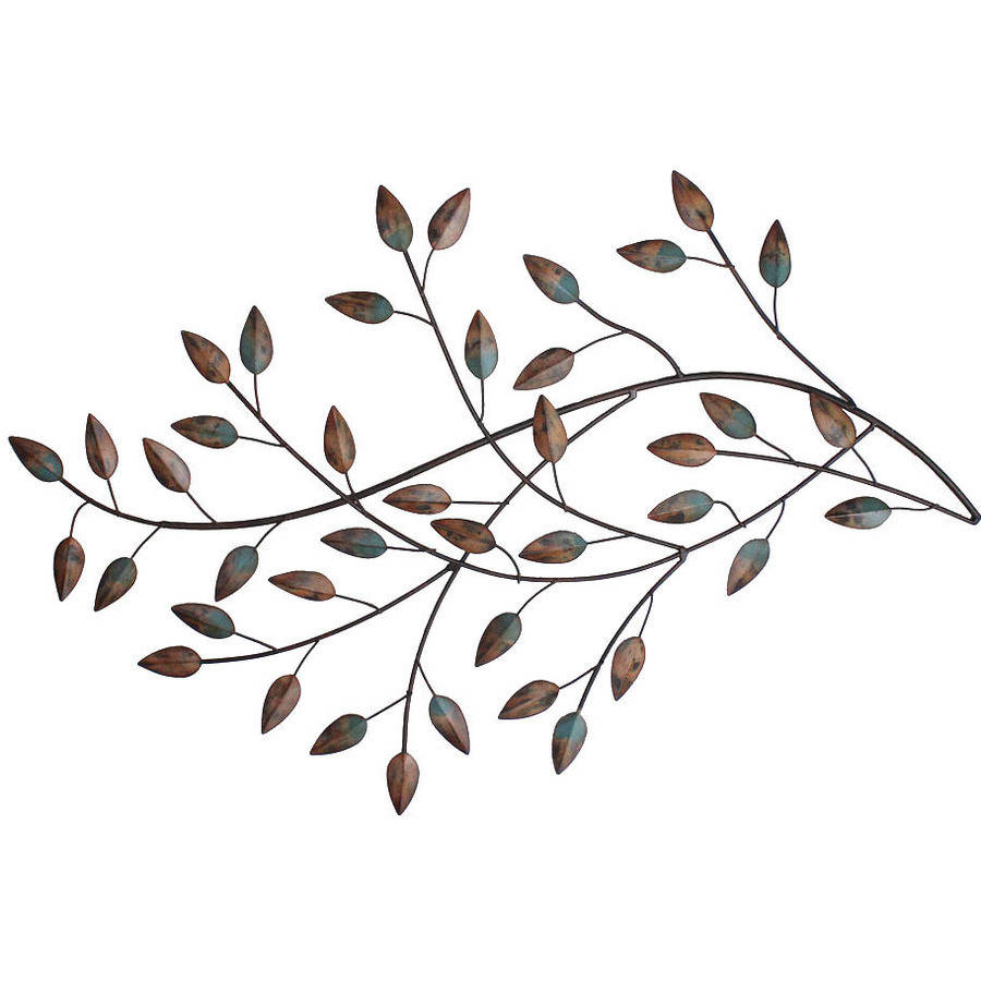 Twig Wall Decor stratton home decor blowing leaves wall decor - walmart