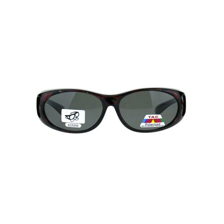 Womens 60mm Geometric Print Fit Over Plastic Oval Sunglasses Red