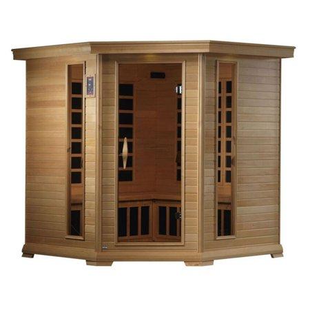 Golden Designs GDI-6445-01 Royal 4 Person Corner Infrared Carbon Sauna